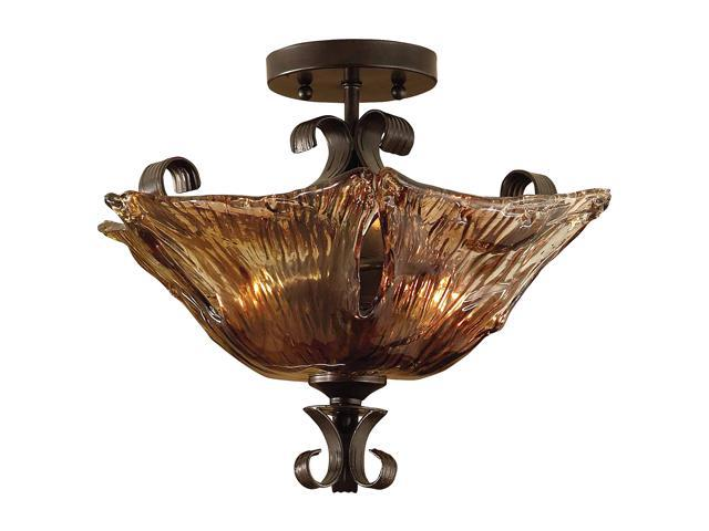 Uttermost  Vetraio  2-Light Semi Flush Mount  Iron - Retail