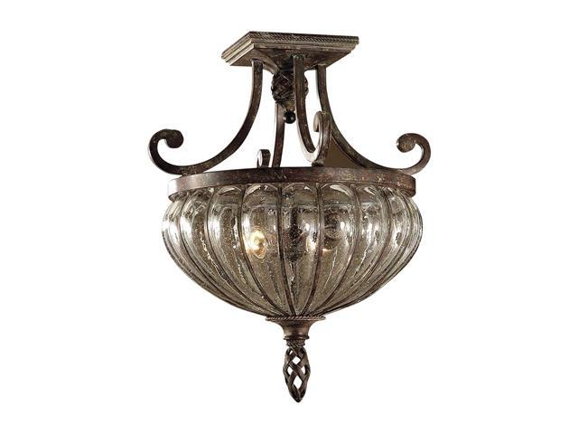 Uttermost Galeana 2-Light Semi Flush Mount Patina