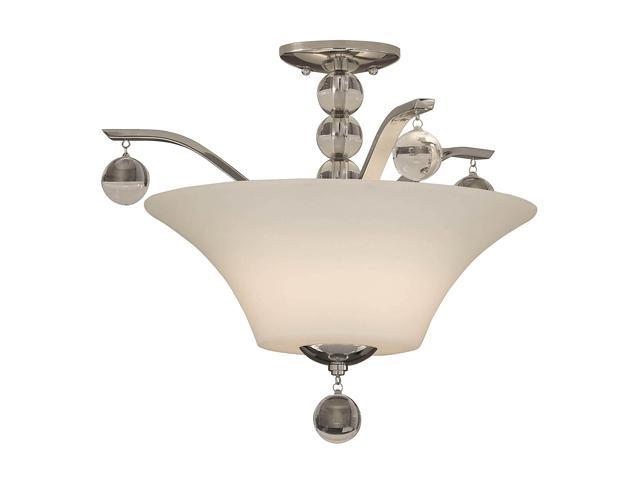 Uttermost  Kane  2 Light Semi Flush Mount  Nickel - Retail