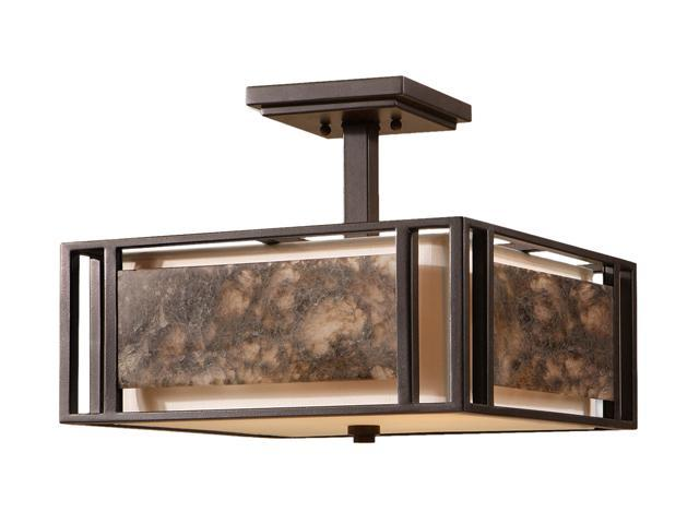 Uttermost  Quarry  3 Light Semi Flush Mount  Marble - Retail