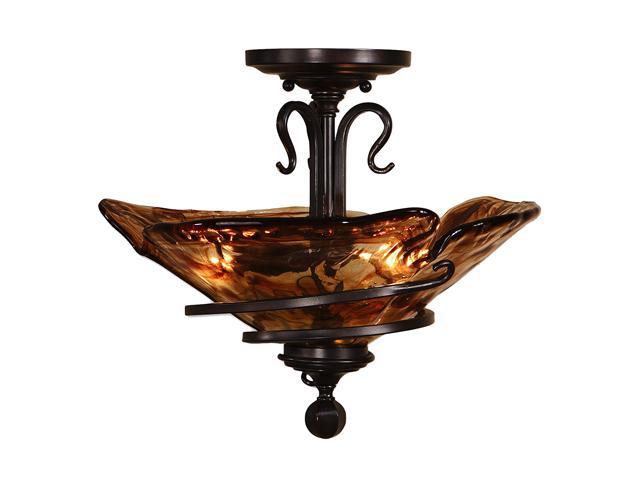 Uttermost  Vitalia  3 Light Semi Flush Mount  Oil-rubbed bronze - Retail