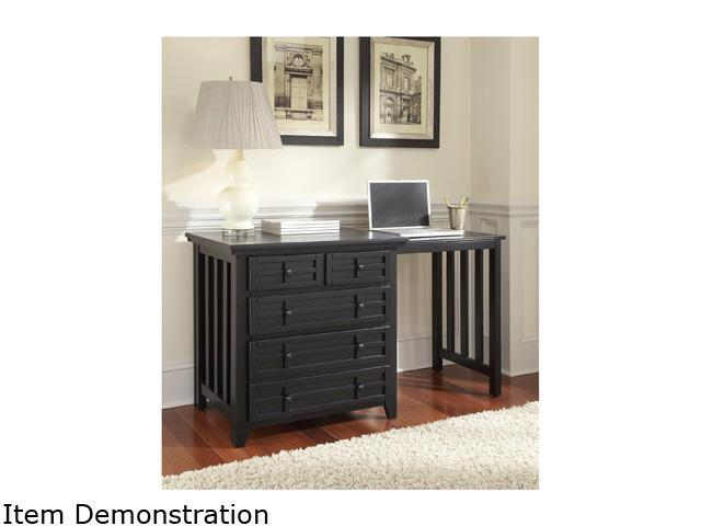 Home Styles 5181-93 Arts & Crafts Expand-a-Desk Black Finish