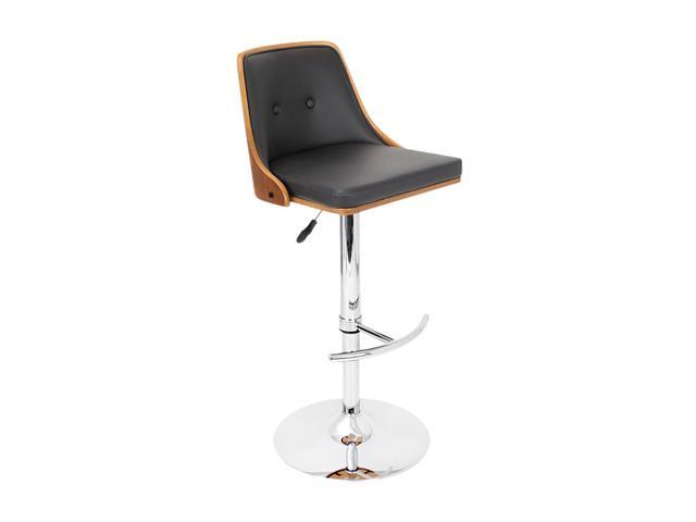 LumiSource Nueva Barstool Walnut + Black