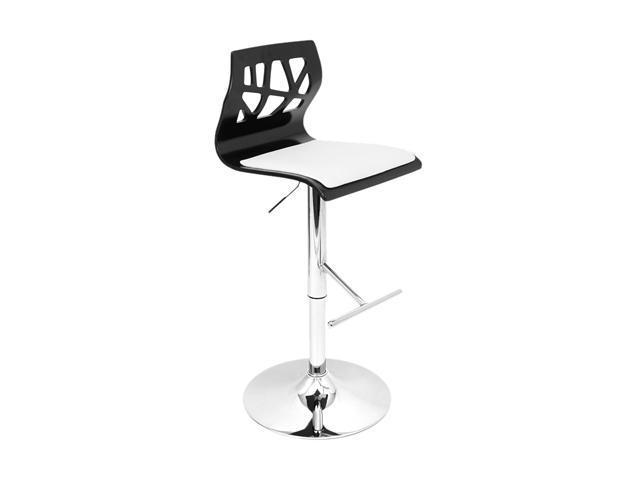 LumiSource Folia Barstool Black + White