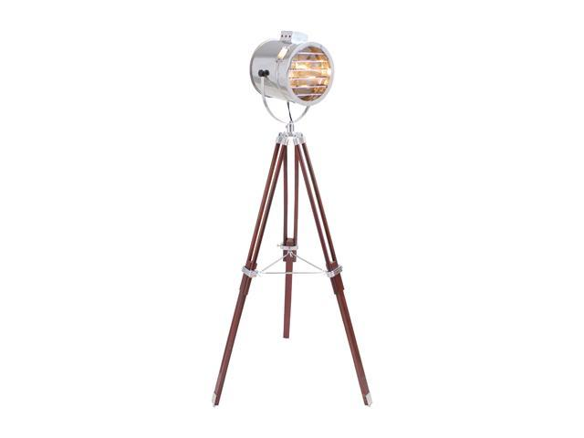 LumiSource Ahoy Floor Lamp (Adjustable height) Brown / Silver