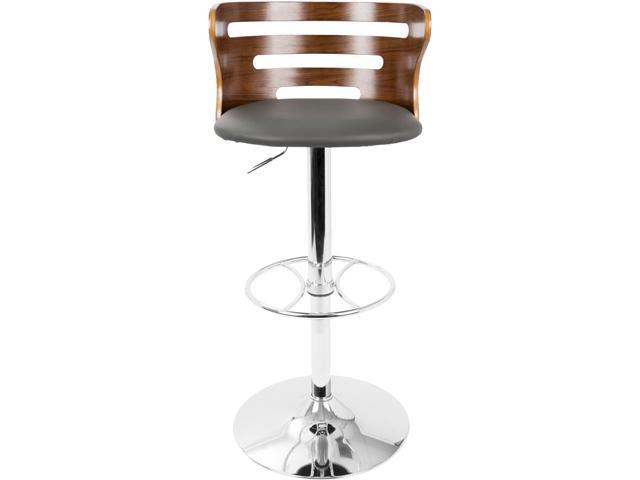 LumiSource BS-COSI WL+GY Cosi Walnut and Grey Adjustable Barstool