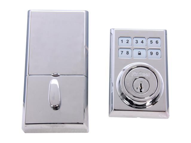 Kwikset 909 CNT 26 SMT CP Contemporary SmartCode Electronic Single Cylinder Deadbolt feat SmartKey in Poli