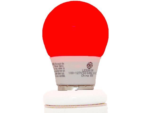 GE Lighting Energy Smart Color LED Party Light 1-Watt (15-Watt Equivalent) Red A15 Light Bulb with Medium Base