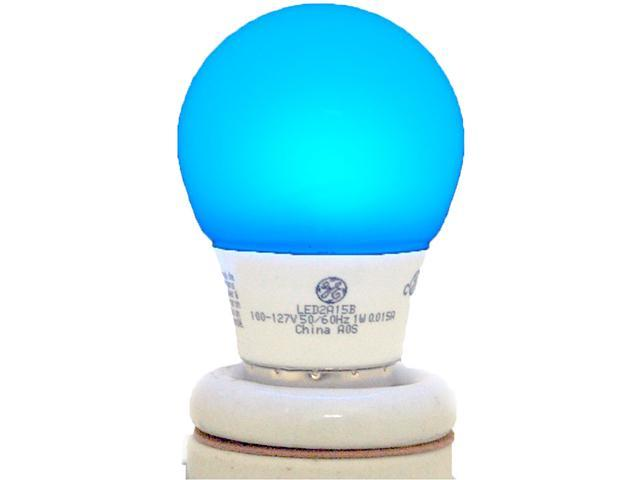 GE Lighting Energy Smart Color LED Party Light 1-Watt (15-Watt Equivalent) Blue A15 Light Bulb with Medium Base