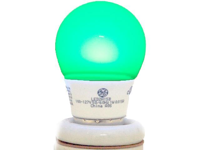 GE Lighting Energy Smart Color LED Party Light 1-Watt (15-Watt Equivalent) Green A15 Light Bulb with Medium Base