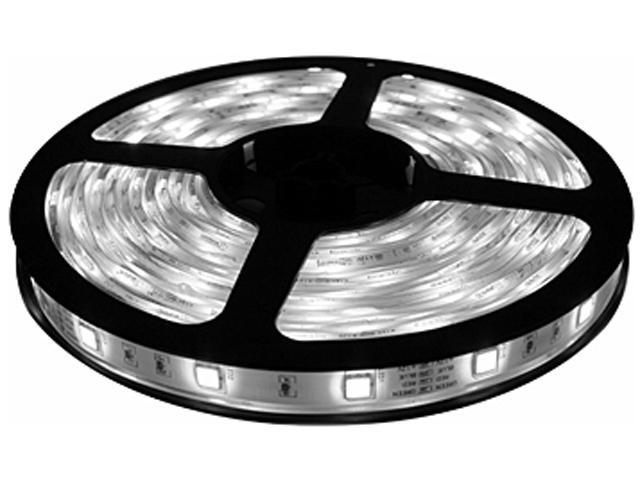 HitLights Weatherproof Cool White SMD3528 LED Light Strip - 300 LEDs, 16.4 Ft Roll, Cut to length - 5000K, 72 Lumens per ...