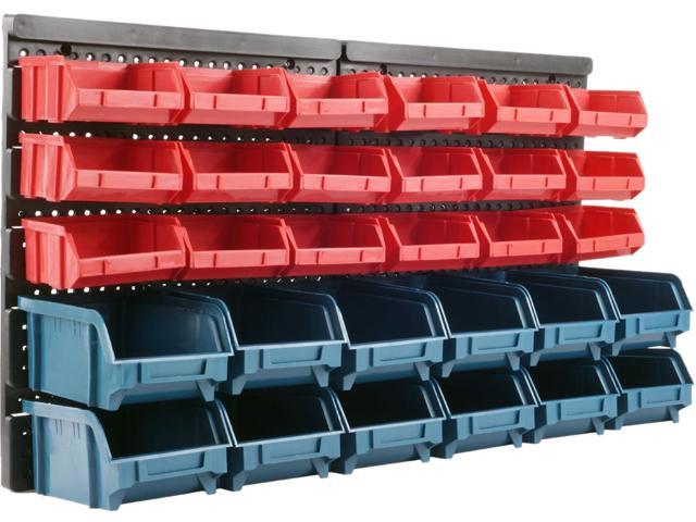 Trademark 75-92226 30 Bin Wall Mounted Parts Rack
