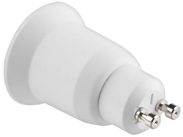 INSTEN 675566 LED Light GU10 to E27 Plug Adapter, White
