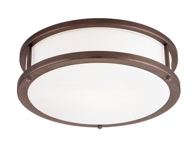 Access Lighting Conga Flush - 3 Light Bronze Finish w/ Opal Glass Bronze Flush Mounts