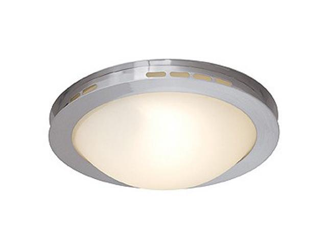 Access Lighting Eros Flush - 1 Light Brushed Steel Finish w/ Opal Glass Brushed Steel Flush Mounts