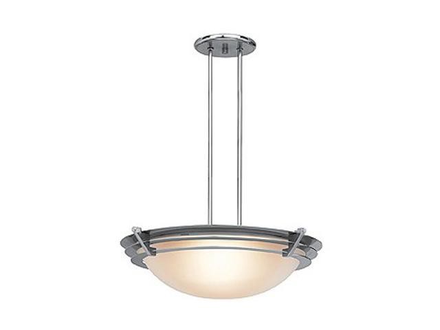 Access Lighting Saturn Semi - 1 Light Brushed Steel Finish w/ Frosted Glass Brushed Steel Semi Flush