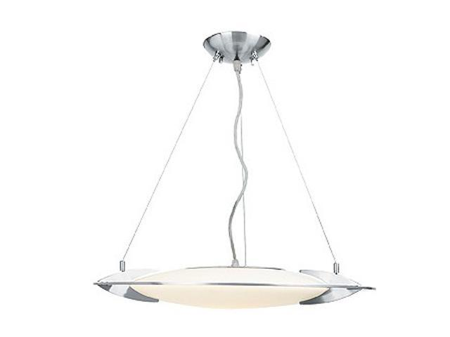 Access Lighting Beta Semi - 1 Light Brushed Steel Finish w/ Opal Glass Brushed Steel Semi Flush