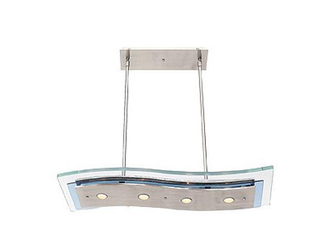 Access Lighting Aquarius Semi - 4 Light Brushed Steel Finish w/ Clear Glass Brushed Steel Semi Flush