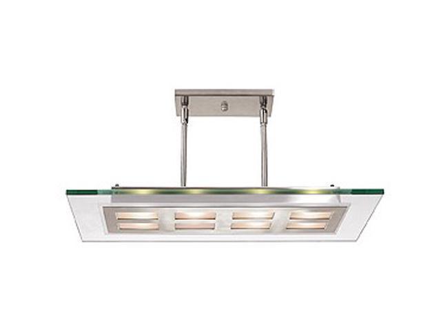 Access Lighting Aquarius Semi - 8 Light Brushed Steel Finish w/ Clear Glass Brushed Steel Semi Flush