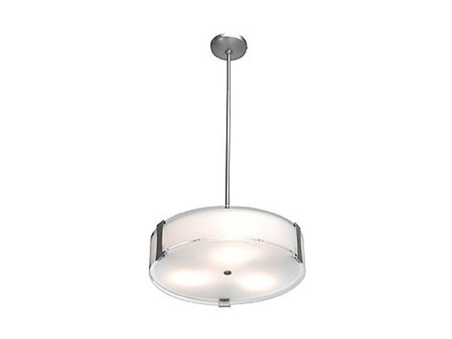 Access Lighting Tara Semi - 3 Light Brushed Steel Finish w/ Opal Glass Brushed Steel Semi Flush