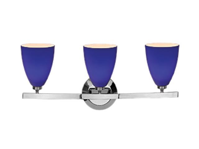 Blue Glass Vanity Light : Access Lighting Sydney Wall & Vanity- 3 Light Chrome Finish w/ Cobalt Blue Glass Chrome Bathroom ...