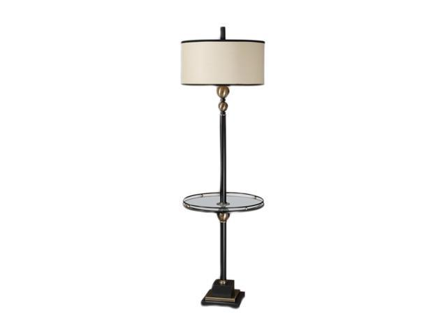 Uttermost Carolyn Kinder Revolution floor lamp with end table Black