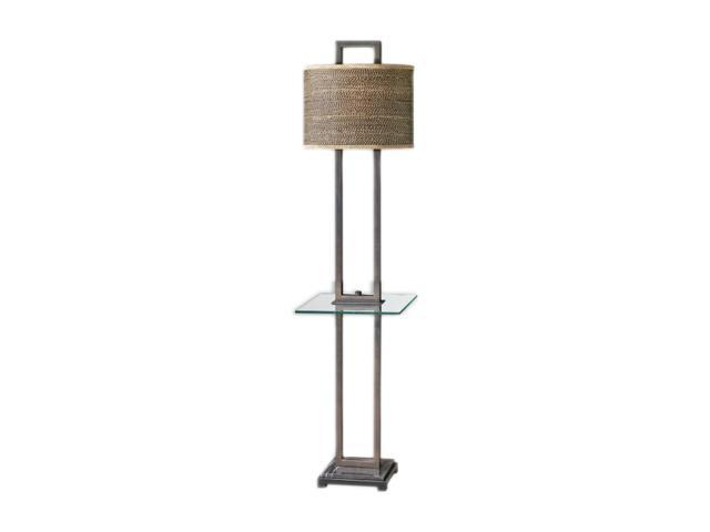 Uttermost Carolyn Kinder Stabina floor lamp with end table Bronze
