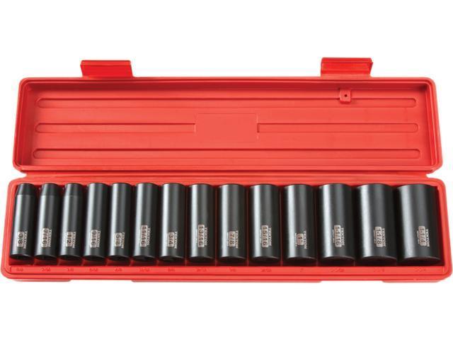 TEKTON 3646 1/2 in. Drive Deep Impact Socket Set (3/8 in.-1-1/4 in.) 12 pt. Cr-V