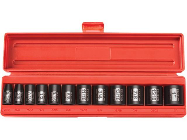 TEKTON 47910 3/8 in. Drive Shallow Impact Socket Set (5/16 in.-1 in.) 6 pt. Cr-V