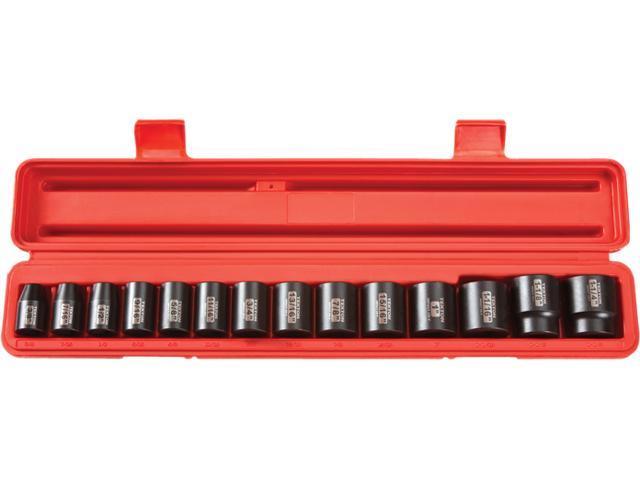 TEKTON 48161 1/2 in. Drive Shallow Impact Socket Set (3/8 in.-1-1/4 in. ) 12 pt. Cr-V