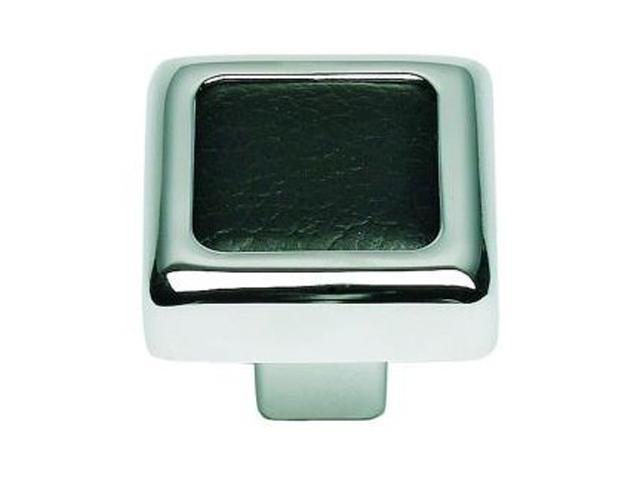 Atlas 3149-BL Paradigm Knob -Black Leather/Polished Chrome