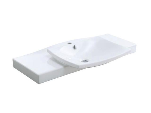 KOHLER K-19034-1-0 Escale Vanity Top And Basin With Single-hole Faucet Drilling