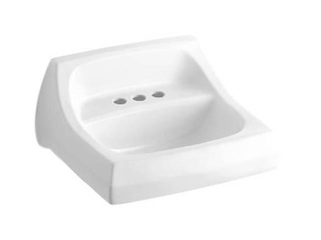 Kohler K-2005-0 Kingston Wall-mount Lavatory With 4
