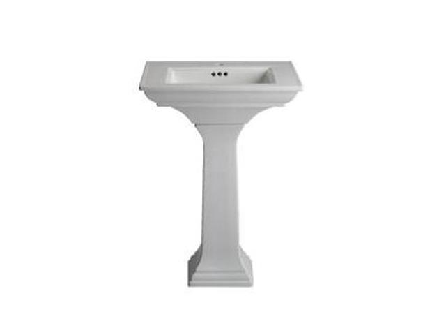 Kohler K-2344-1-0 Memoirs Pedestal Lavatory With Stately Design And Single-hole Faucet Drilling