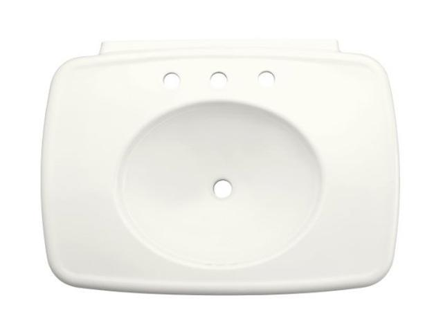 "Kohler K-2348-4-0 Bancroft 30"" Lavatory Basin With Faucet Drilling For 4"" Centers"