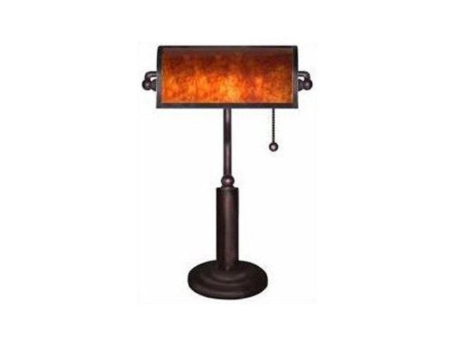 4D Concepts Franklin Mica Bankers Lamp Bronze