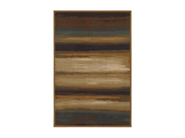 "Mohawk Home Versailles Skyways Rug Brown 96""X132"" 58900 58065 096132"