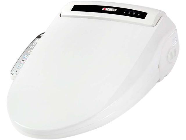 Lotus ATS-909 ELONGATED Smart Bidet Toilet Seat with PureStream White