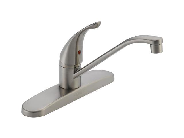 peerless p110lf ss single handle kitchen faucet stainless peerless choice 2 handle standard kitchen faucet with side