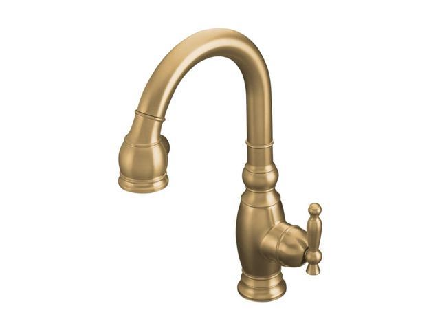 kohler k 691 bv vinnata kitchen sink faucet brushed bronze fontaine brushed bronze pullout kitchen faucet 12964659