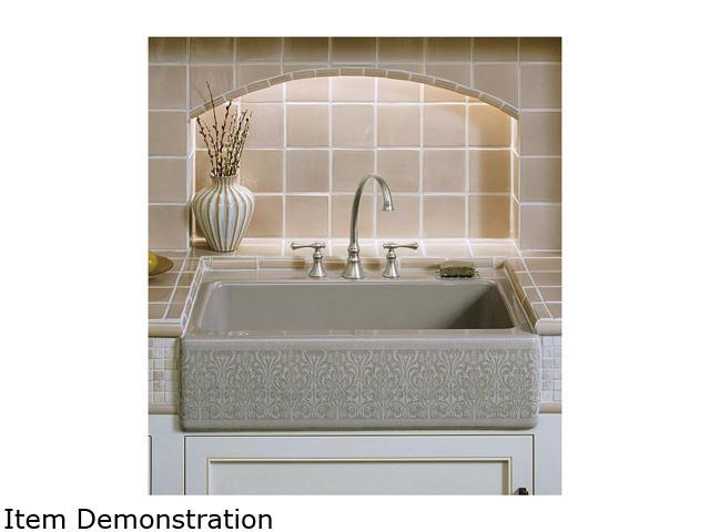 KOHLER K-14579-KG-G9 Alencon Lace design on Dickinson undercounter kitchen sink