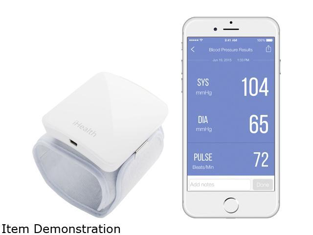 iHealth BP7 White Wireless Blood Pressure Wrist Monitor for iPhone and Android