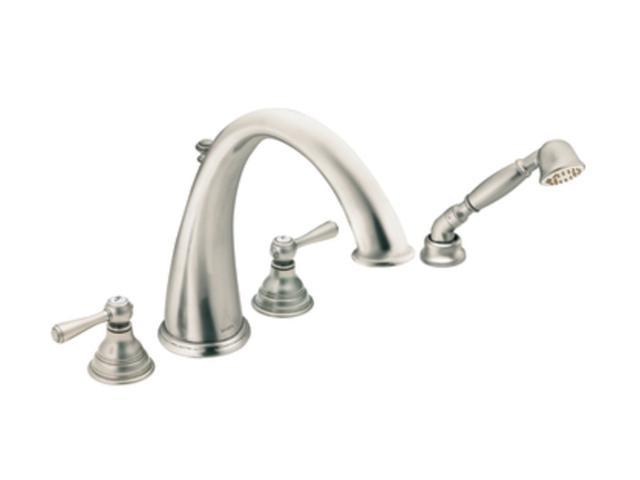 Moen T922an Antique Nickel Kingsley Roman Tub Faucet Hand Shower Without Valve