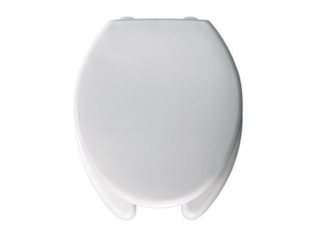 Bemis 2L2150T 000 Medic-Aid Elongated Open Front Toilet Seat White