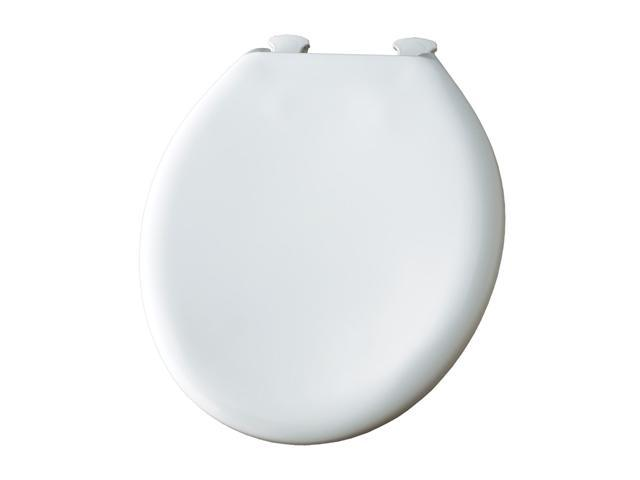 Bemis 300SLOWT 000 Whisper Close Round Closed Front Toilet Seat White