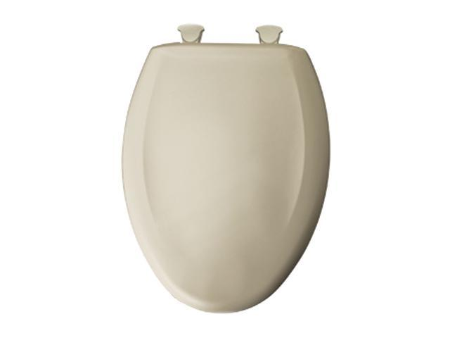 Bemis 380SLOWT 006 Whisper Close Elongated Closed Front Toilet Seat Bone