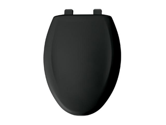 Bemis 380TCA 047 Elongated Closed Front Plastic Toilet Seat With Cover Black