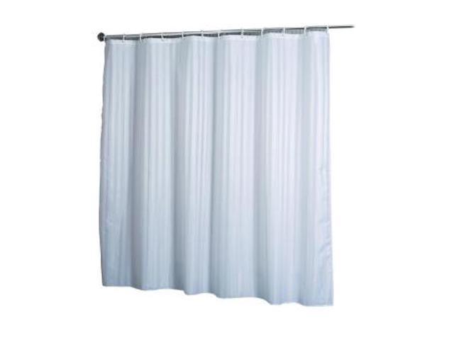 croydex af580822yw shower curtain woven stripe white. Black Bedroom Furniture Sets. Home Design Ideas