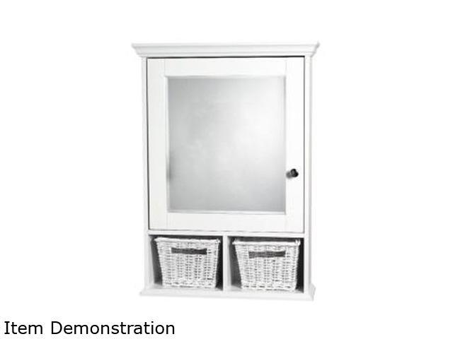 Zenith TH22WW Medicine Cabinet With Mirror And 2 Baskets