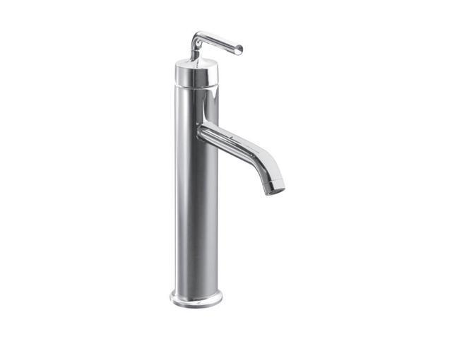KOHLER K-14404-4A-CP Single Hole Purist Tall Single-control Lavatory Faucet With Straight Lever Handle Polished Chrome